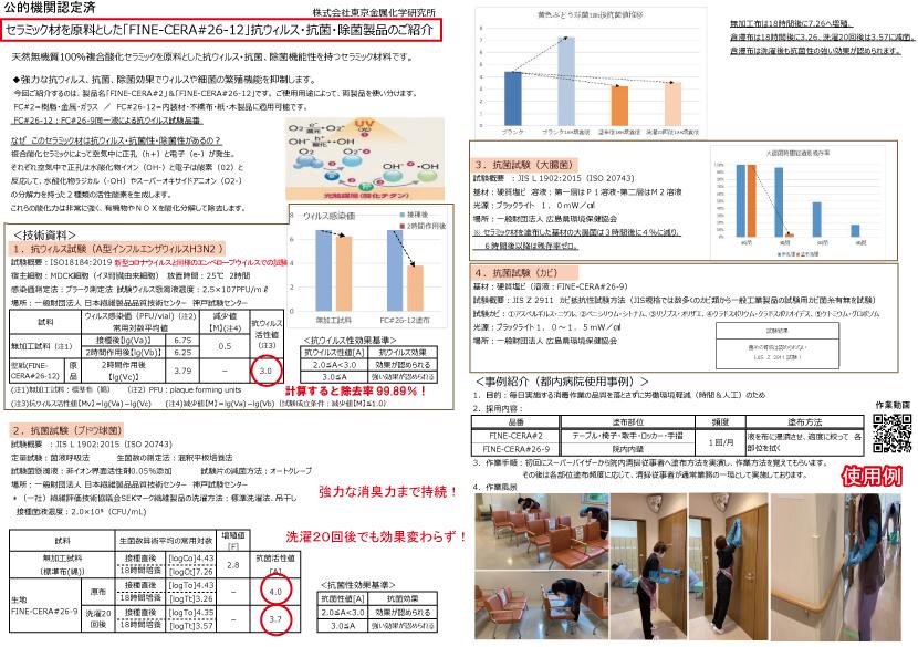 セラミック液試験結果資料